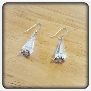 Jewelry - NWOT Handmade Crystal Earrings